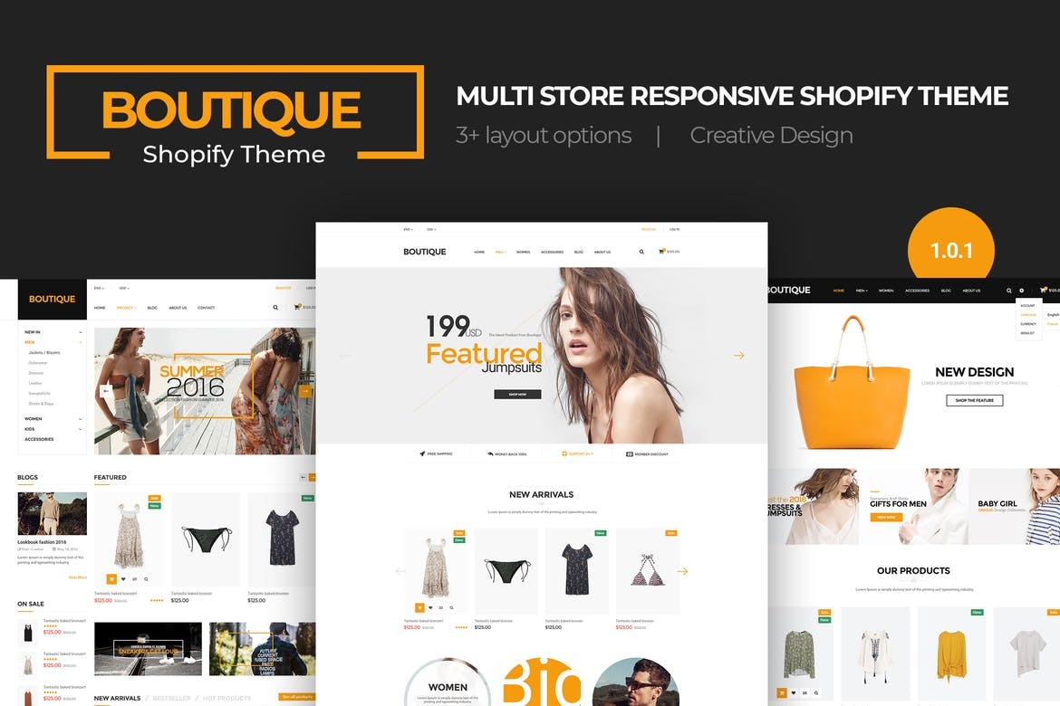 17 Premium Shopify themes + Guide to make money online