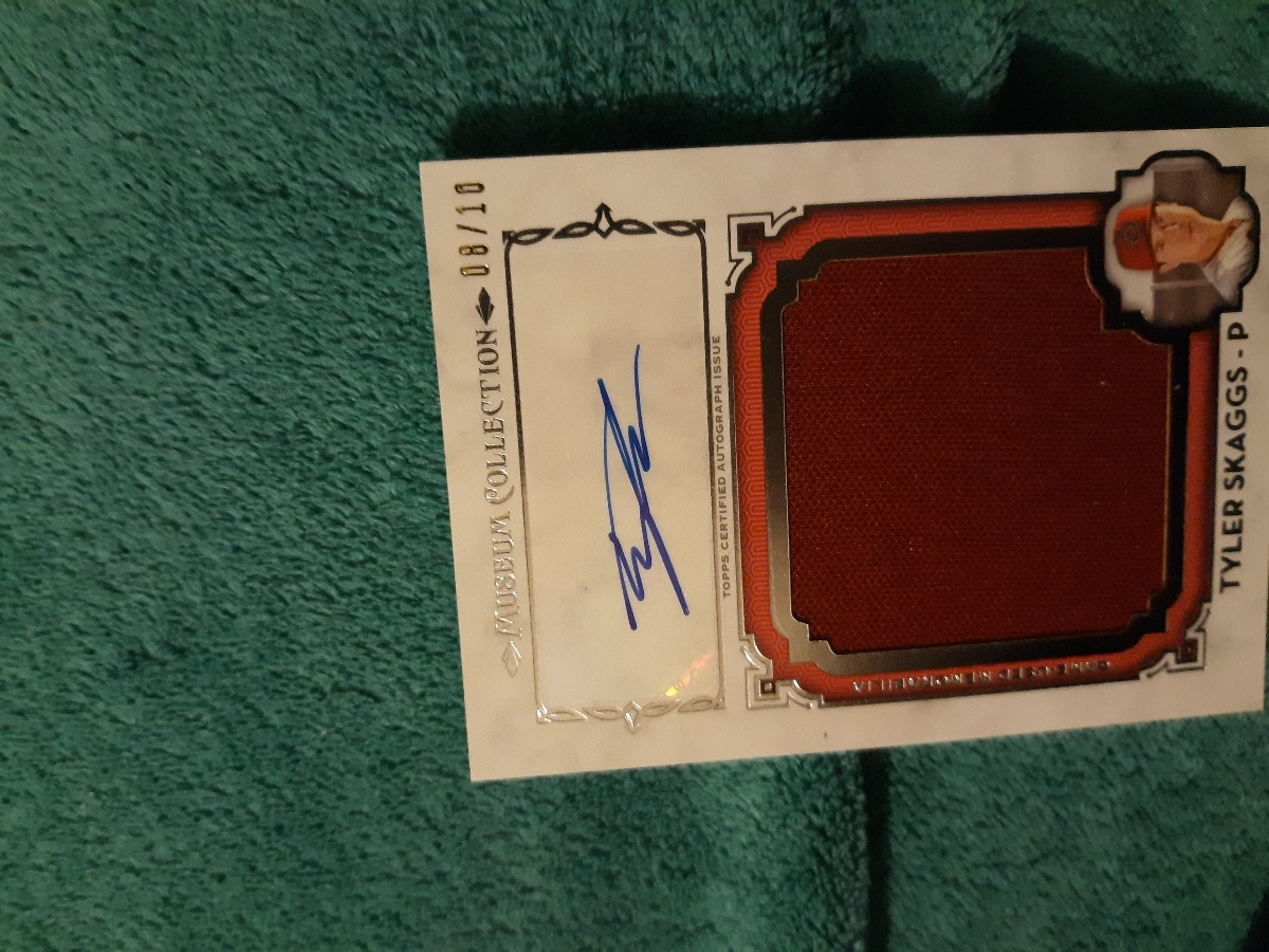 Tyler Skaggs super patch auto i.d 8/10