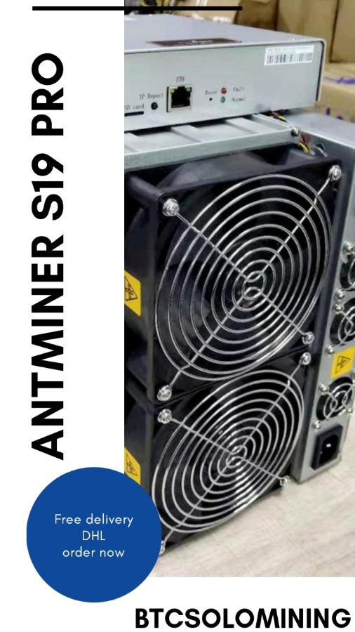 Bitmain Antminer S19 PRO - Bitcoin 110TH / S