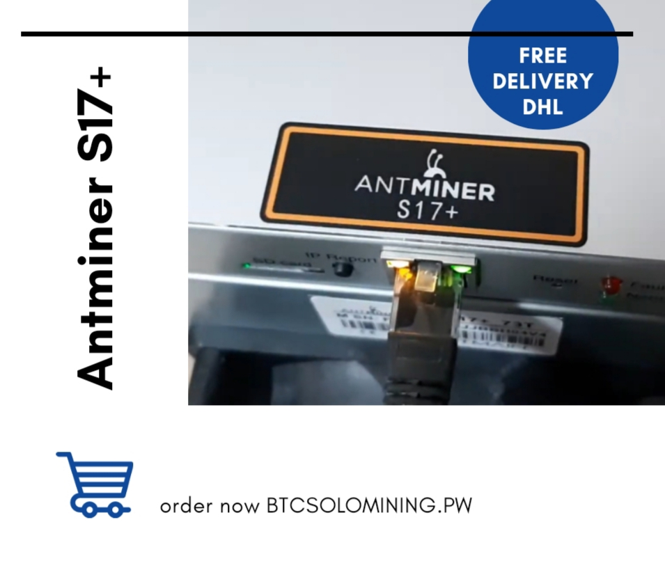 Bitmain Antminer S17+ – Bitcoin 70TH/S Second Hand
