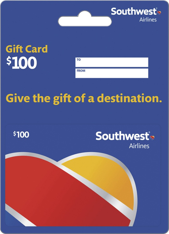 southwest airline gift card (100.00)