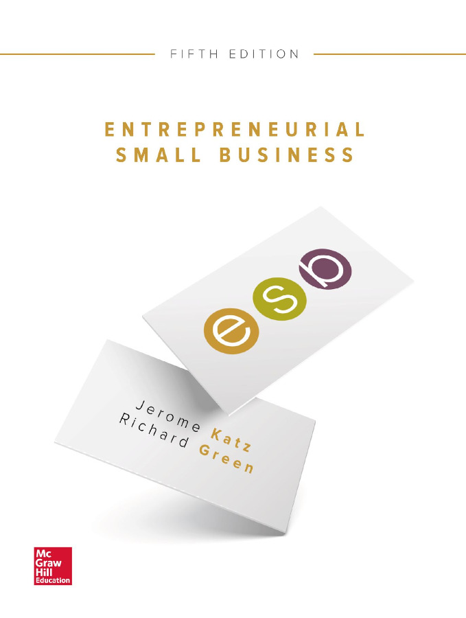 Entrepreneurial Small Business 5th Edition