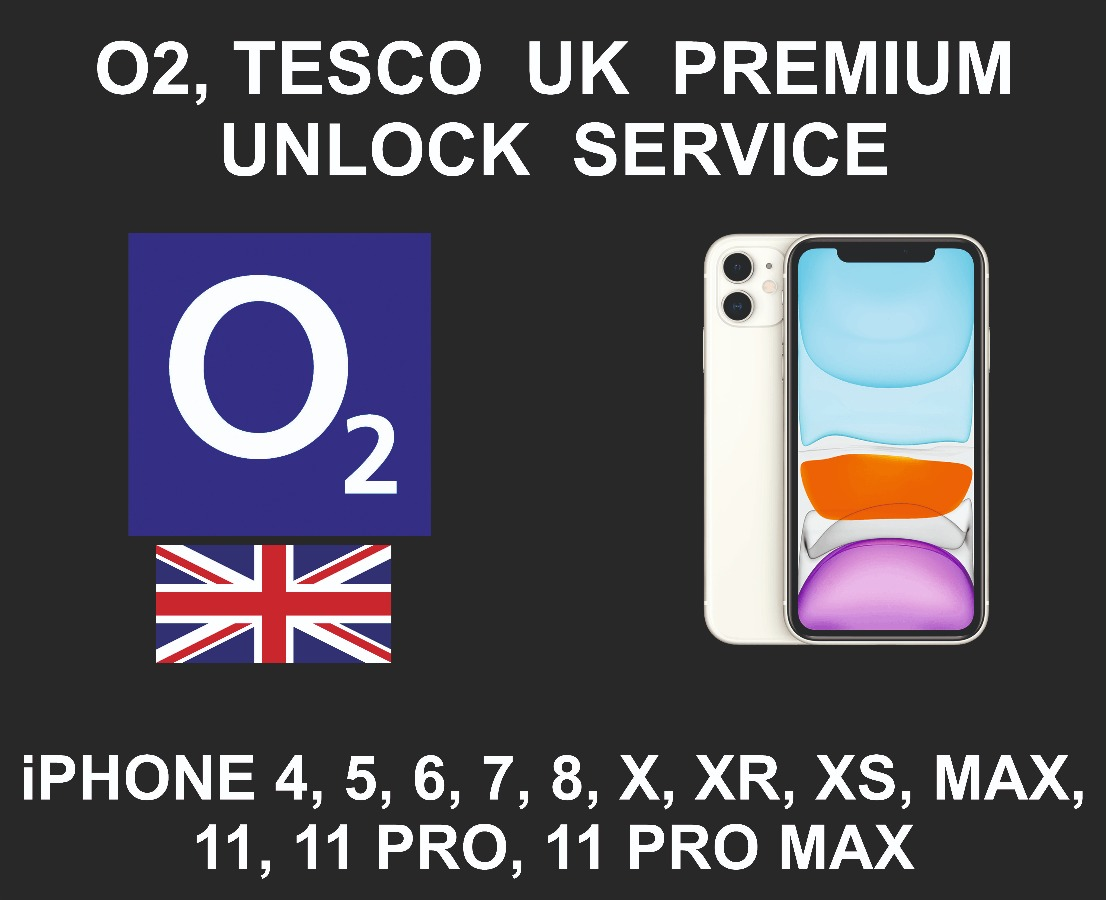 O2 UK Network Unlock Service, iPhone All Models