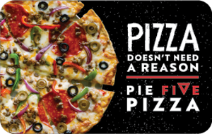 $50 Pie Five Pizza Gift Card (Email Delivery)