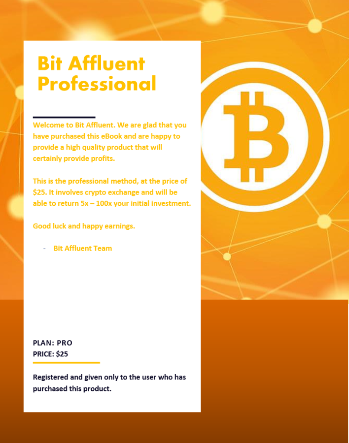 Bit Affluent - Pro Ebook | How to earn Bitcoins easy