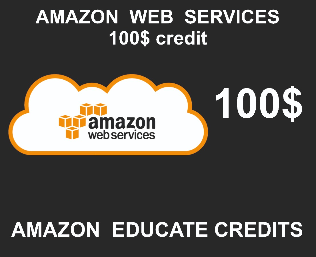 AWS Amazon Credits, 100 USD Value, Credit Pack Code