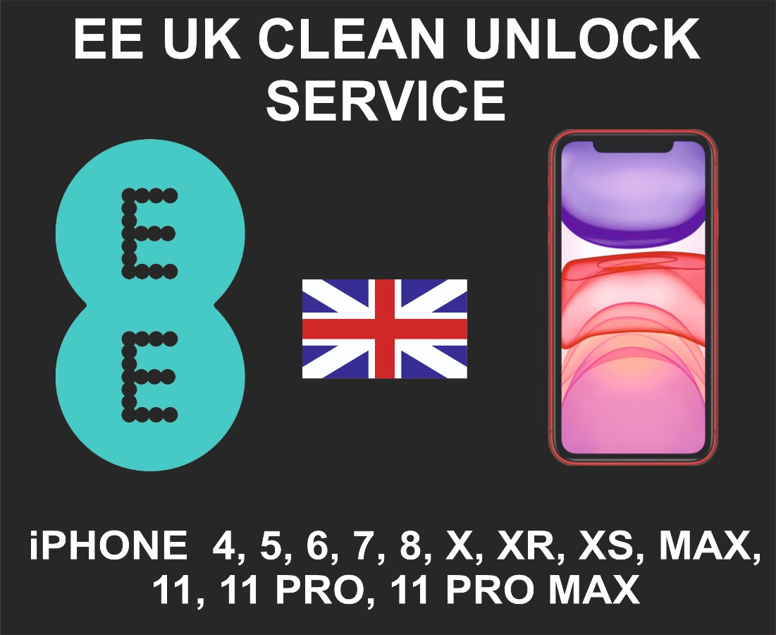 EE UK Network Unlock Service, iPhone New Models Clean
