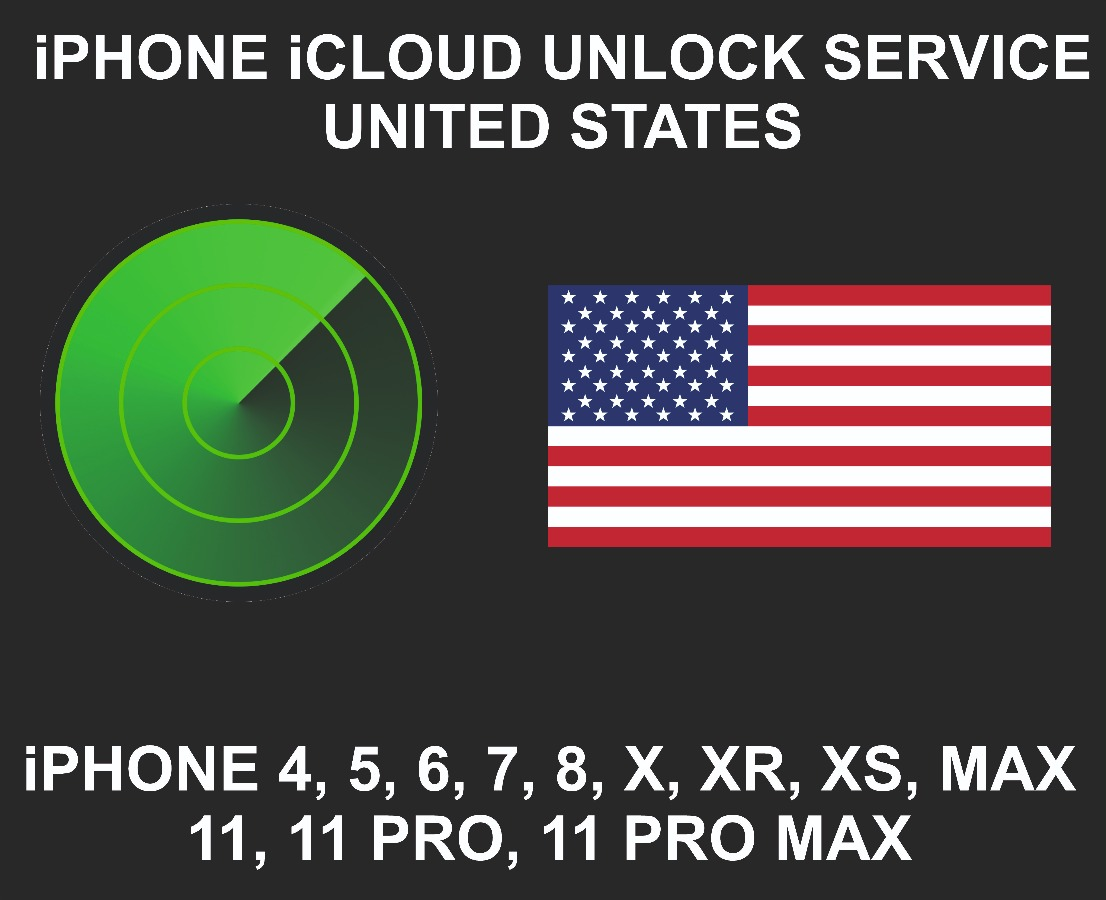 iCloud Unlock Service, All Models, Sold in USA