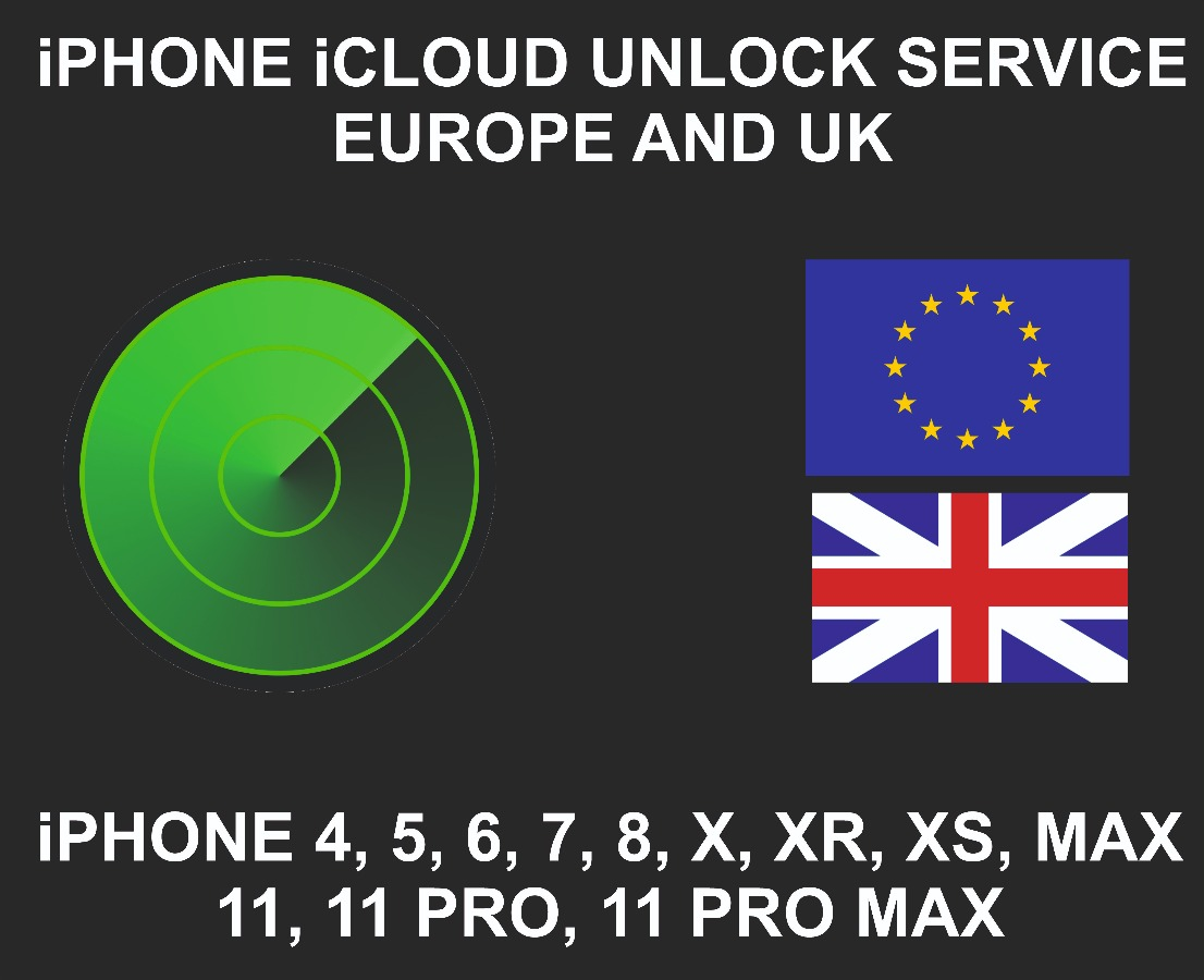 iCloud Unlock Service, All Models Sold in Europe And UK