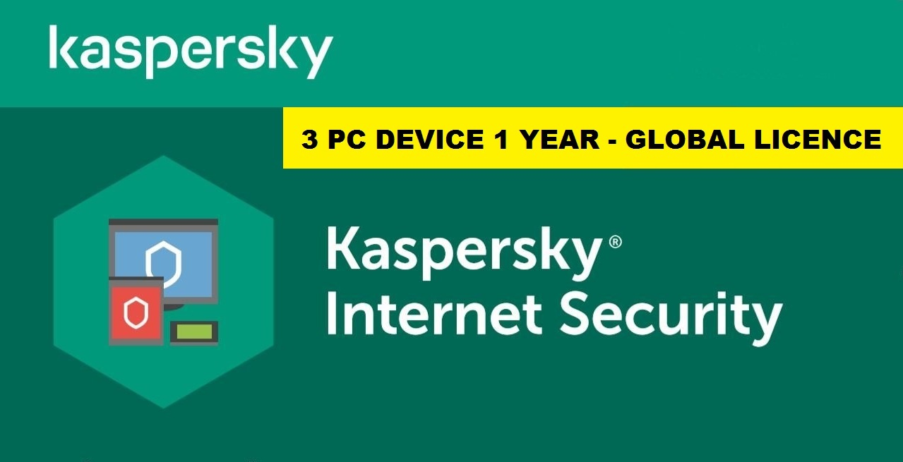 Kaspersky Internet Security 2020 3 PC for Windows