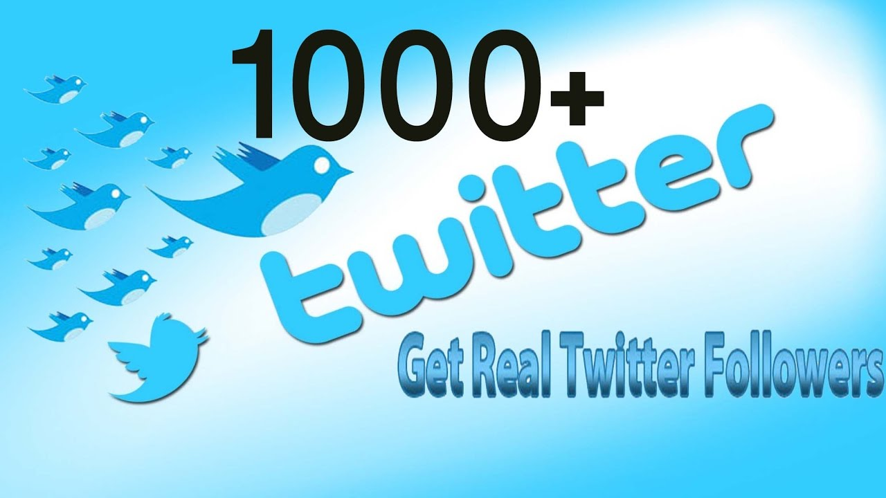 1000 Twitter followers | 30 Days Refill | Non-drop