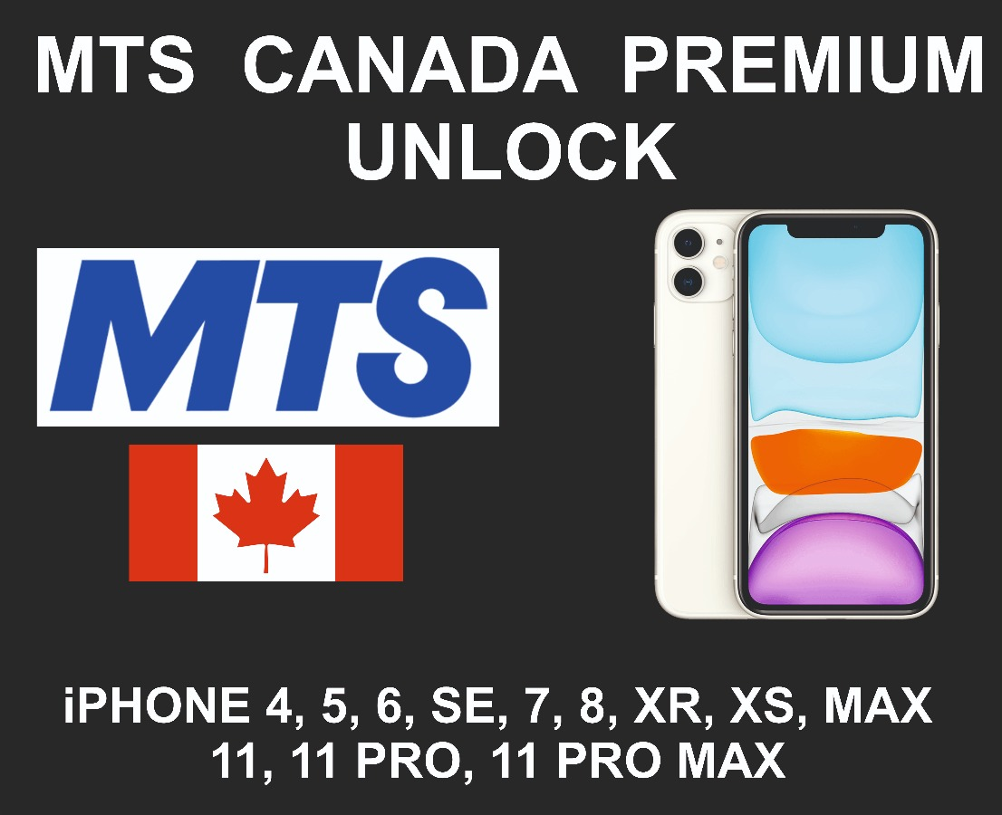 MTS Canada Premium iPhone Unlock Service, All Models Ex