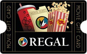$20 REGAL CINEMA GIFT Card