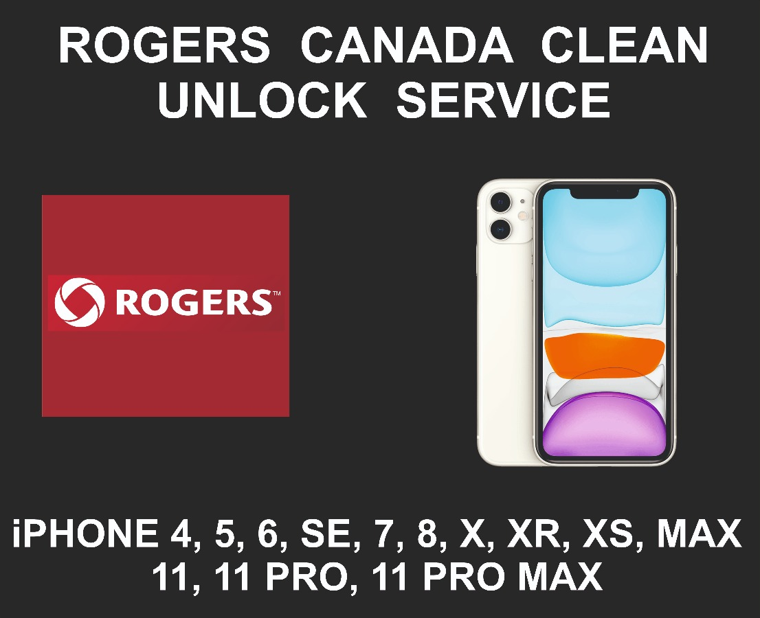 Rogers Canada Clean iPhone Unlock Service, All Models