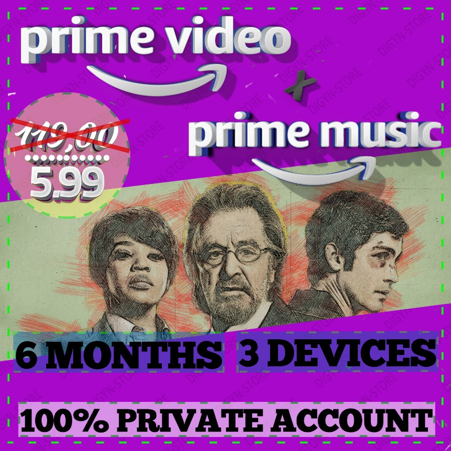 6 months Amazon Prime Video + Prime Music | WORLDWIDE