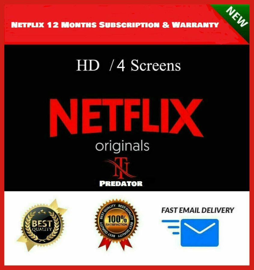 NETFLIX Premium 4 Screens UltraHD 1 YEAR Personal A/c