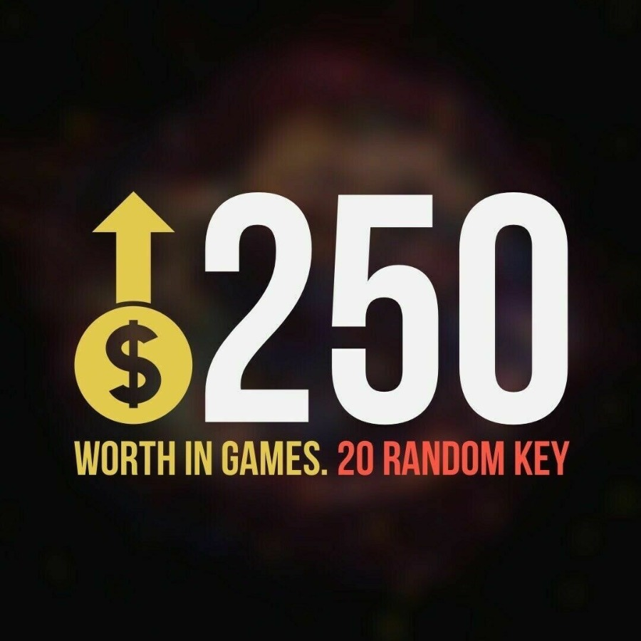 x20 Random Steam Key Premium Games (+$250)