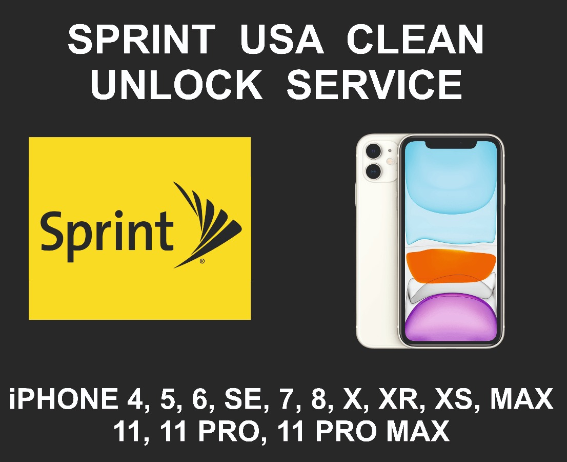 Sprint USA Network Unlock Service, iPhone All Models