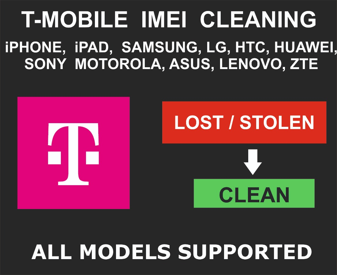 T-Mobile USA IMEI Cleaning, Unbarring Service, iPhone,