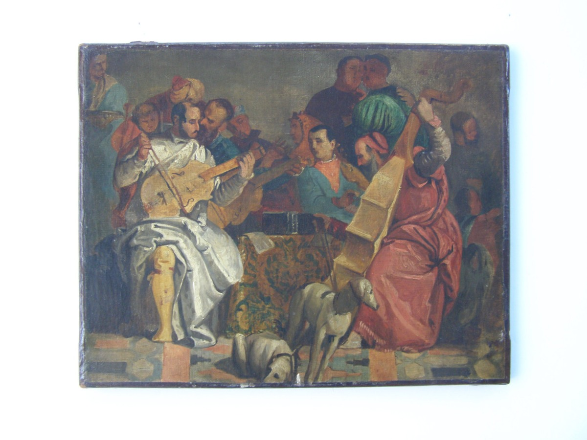 18th Century French Old Master, Antique oil on canvas