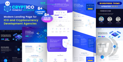 ICO Crypto Landing & Cryptocurrency WordPress Theme