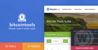 Bitcoin Tools Suite - a set of 50+ tools for bitcoins