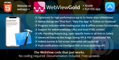 WebViewGold for iOS v7.2 - WebView App for iOS