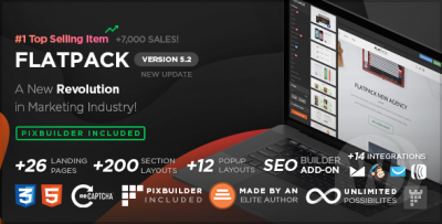 FLATPACK - Landing Pages Pack With Page Builder