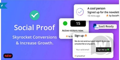 SocialProofo -a script for showing pop-ups on a site