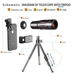 Clip-On  Camera Mobile Phone Zoom Lens