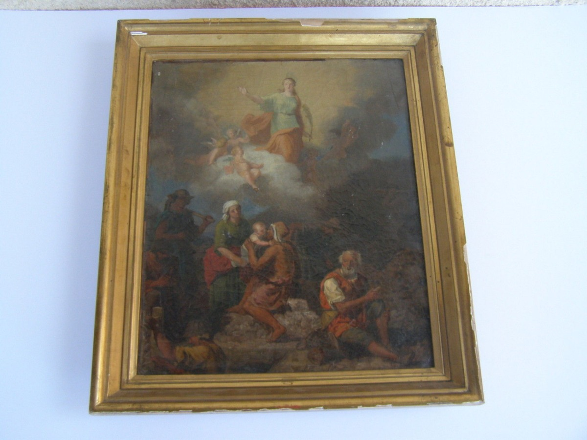18th Century Italian Old Master Antique oil painting