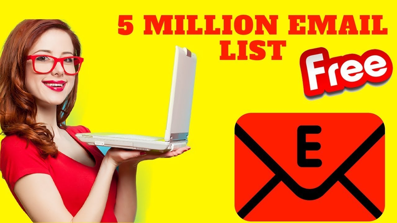 5 Million email List + Free email validation software