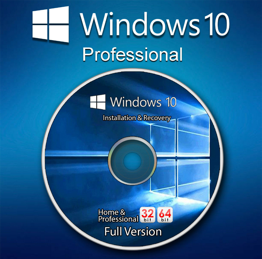 Microsoft Windows 10 Pro Professional 32-64bit Genuine