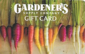 500$ Gardener's Supply E-Gift Cards