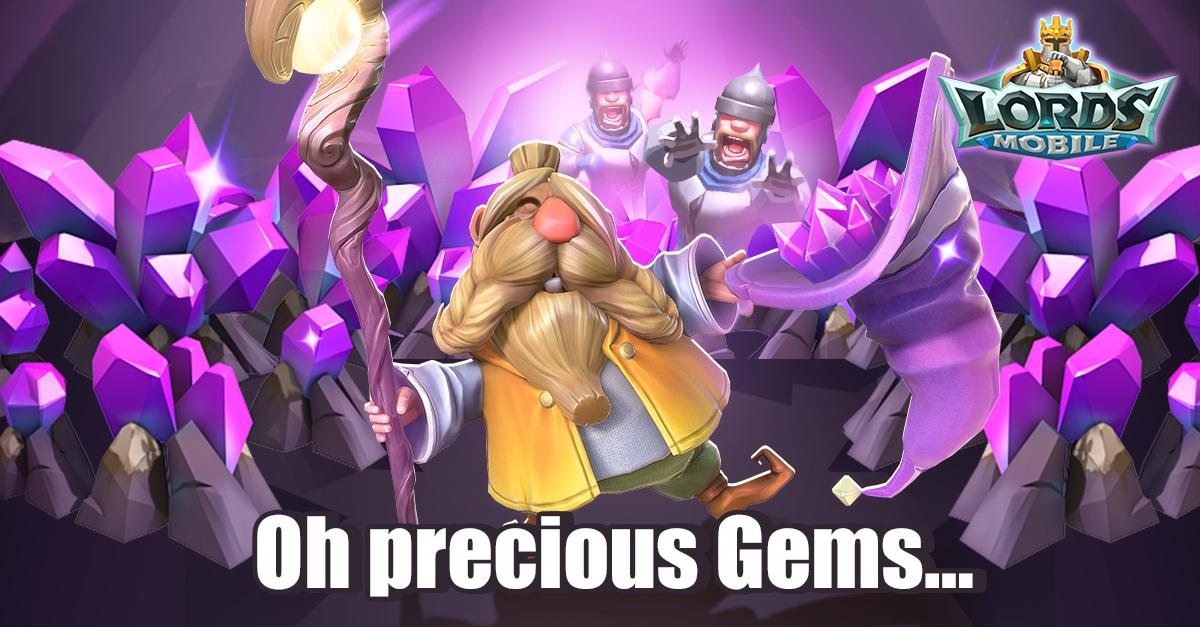 100k Gems for Lords Mobile