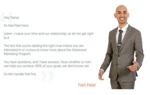 Neil Patel – Advanced Consulting Program