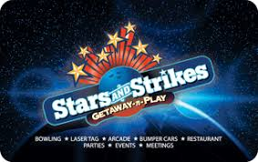 100$ STARS AND STRIKES BOWLING E-Gift Card