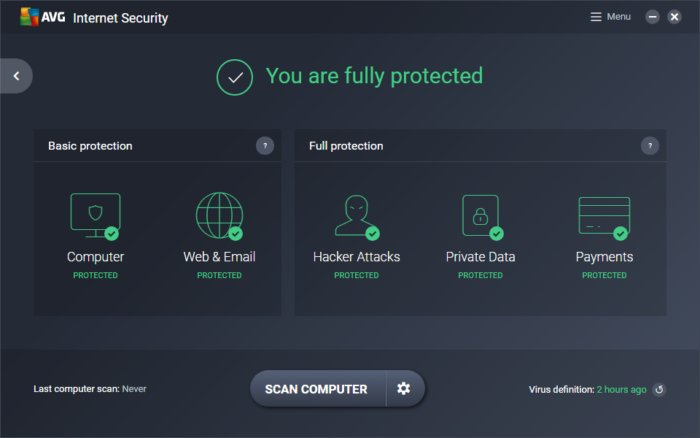 AVG Internet Security 2020 for 1 Year