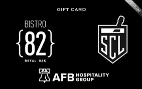 Bistro 82 100$ E-Gift Cards  (Email Delivery)