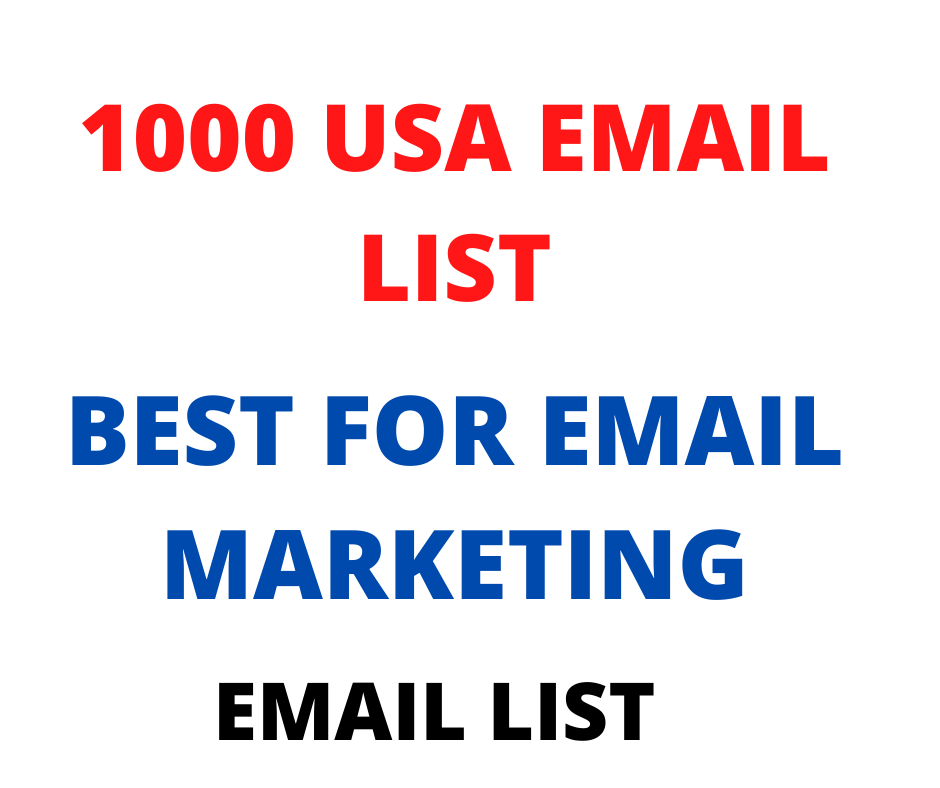 1000 USA Email List Best for Email Marketing.