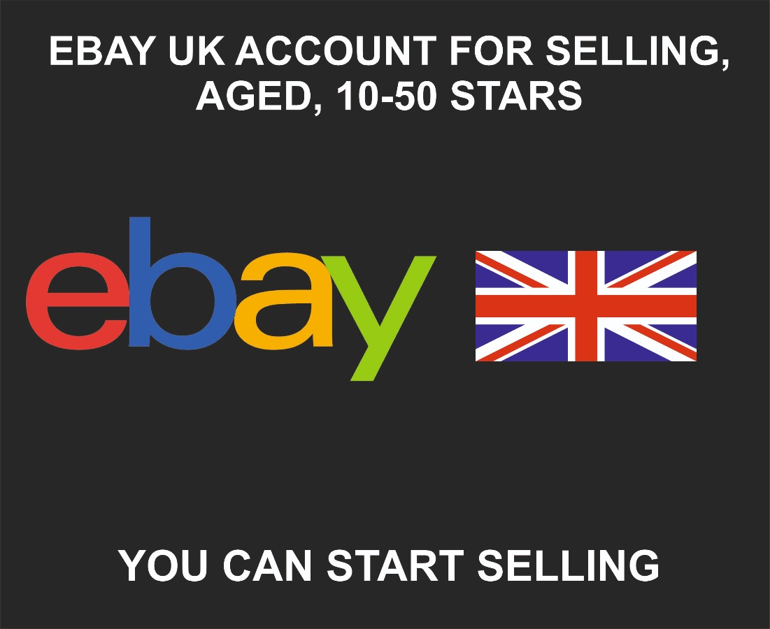 UK Ebay Account For Selling + Email, 1-10 Years Old