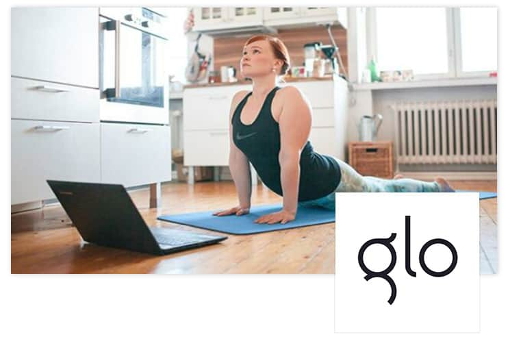 Glo | Unlimited access to yoga meditation, and Pilates
