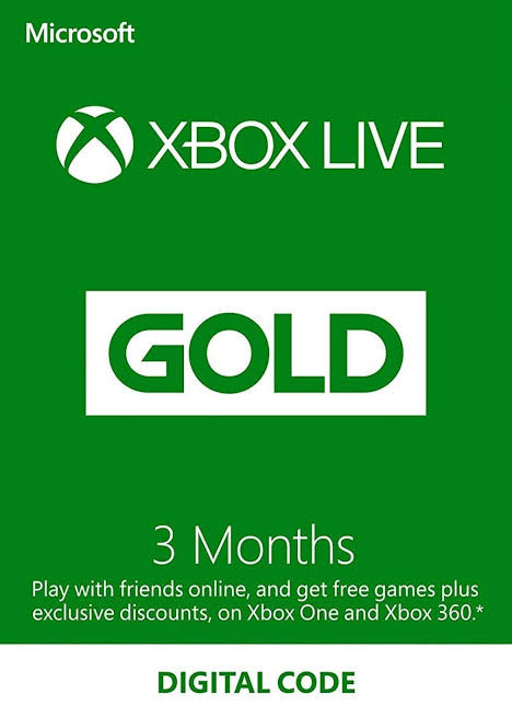 Xbox Live 3 month $15 instant delive