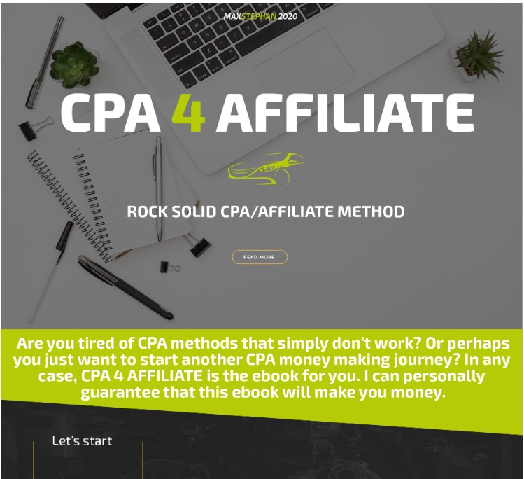 CPA 4 AFFILIATE – SMART 2020 CPA METHOD MAKE $500 DAY