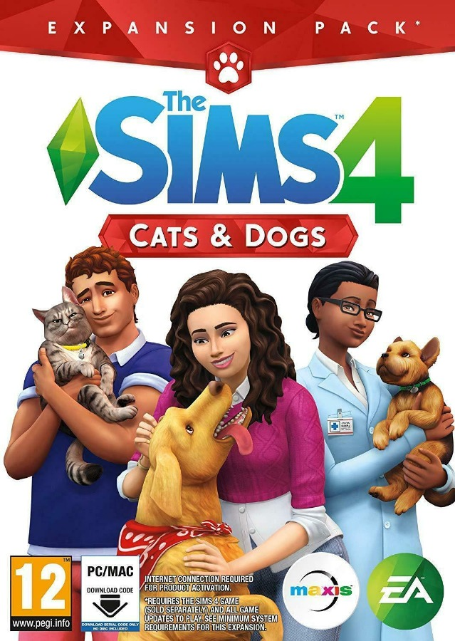 The Sims 4: Cats and Dogs Expansion DLC Key/Code Global