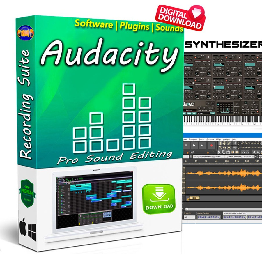AUDACITY| Professional Audio Editor |Recording Software