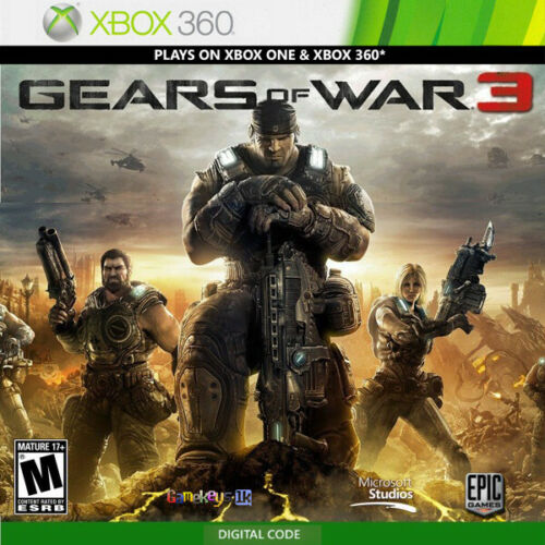 Gears of War 3 Xbox 360 Key Region Free Digital Code