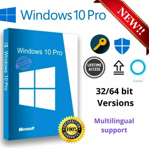Microsoft Windows 10 Pro Professional 32/64bit Genuine