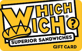 $100 (4x$25) Which Wich Gift Cards **INSTANT DELIVERY**