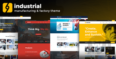 WordPress Industry and Factory Template